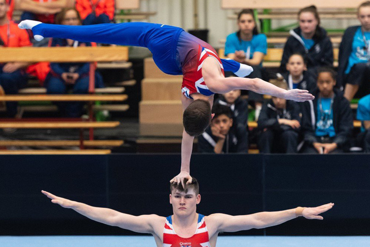 Acrobatic gymnasts gain valuable experience in Belgium