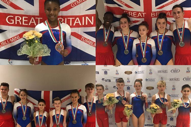 British gymnasts celebrate medal success in Sofia