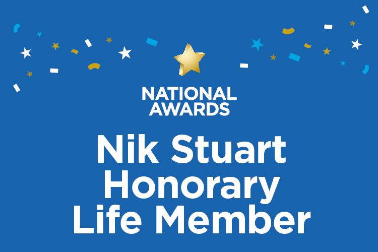 National Awards: Nik Stuart Honorary Life Members announced