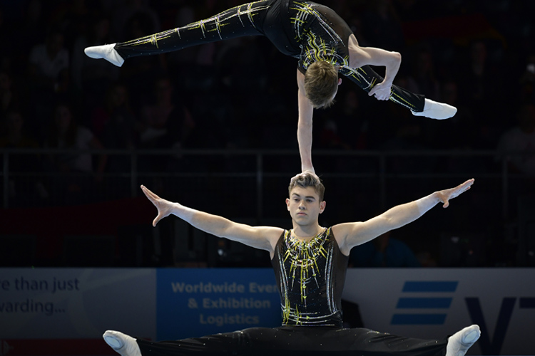 Brilliant bronze for men's pair at 2018 Acrobatic World Championships