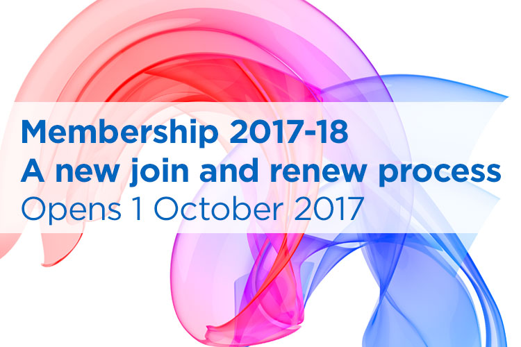 New membership join and renew process from 1st October