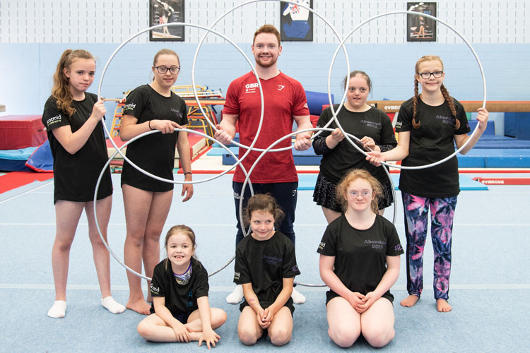 Dan Purvis provides inspirational experience at disability gymnastics training camp
