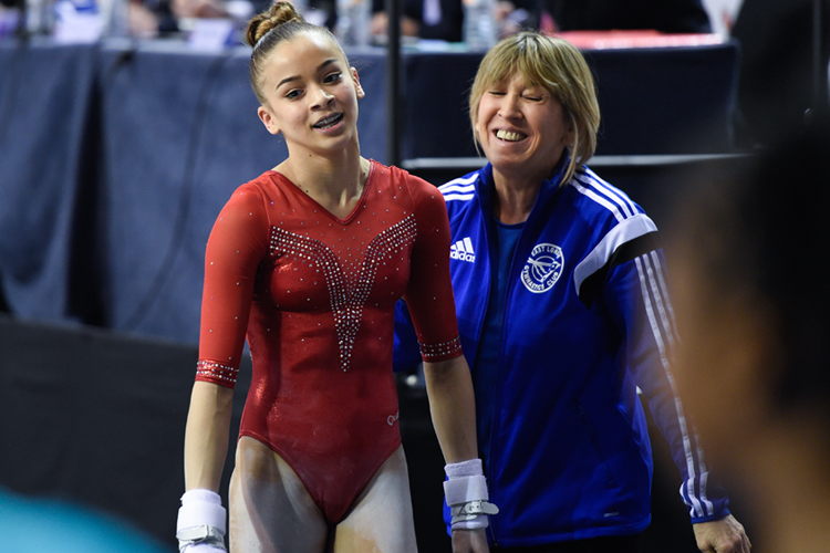 Georgia-Mae ready for the 2018 Gymnastics British Championships