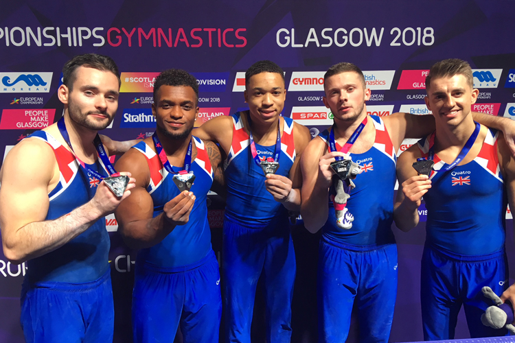 Team silver for senior men at 2018 European Championships