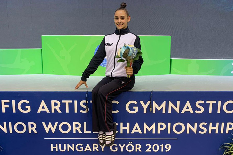Jennifer makes history at 1st Junior Artistic World Championships