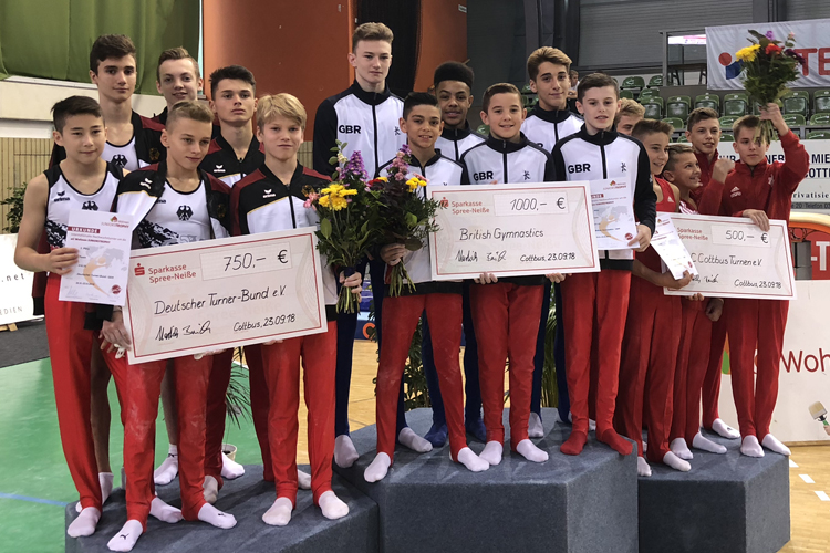 Junior boys shine in Germany
