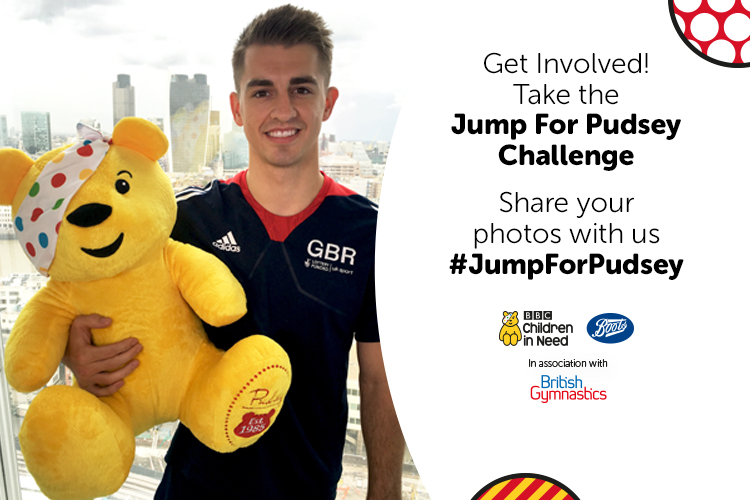 Max shows his support for #JumpForPudsey
