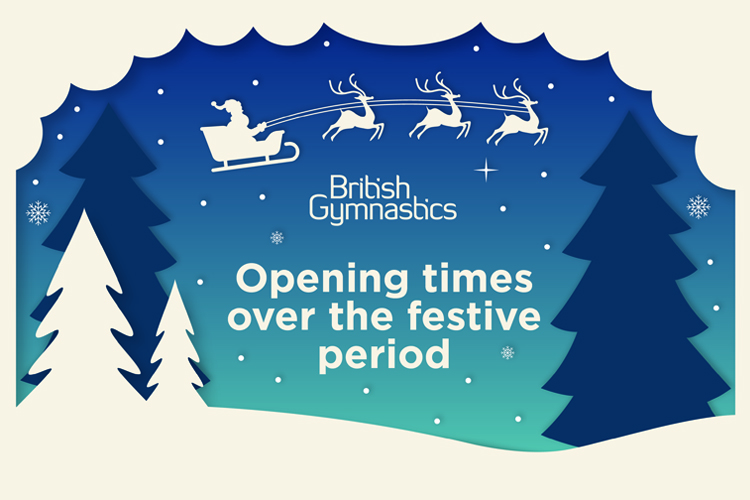 British Gymnastics holiday opening times