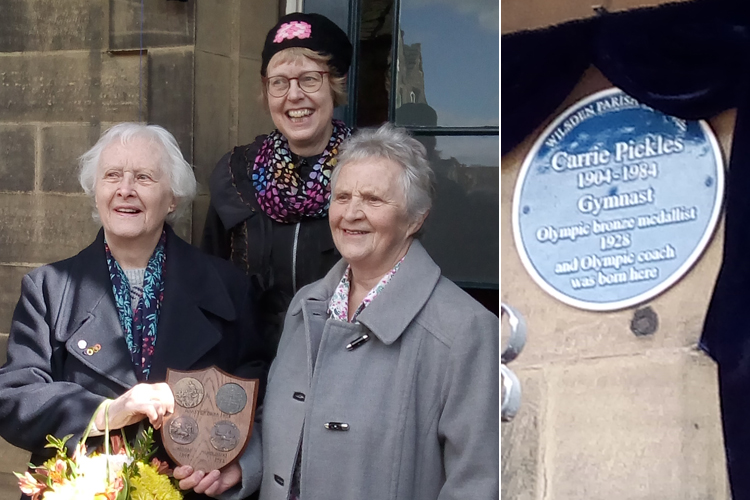 British Olympian remembered with commemorative plaque
