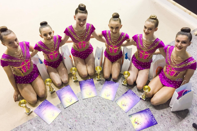 International rhythmic success for British gymnasts