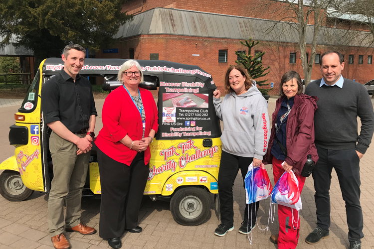 Recoil Trampoline Club Tuk Tuk Challenge arrives at Lilleshall edit