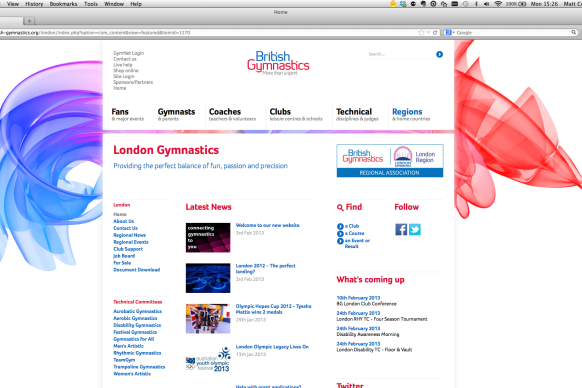 London Gymnastics launches new website in partnership with BG