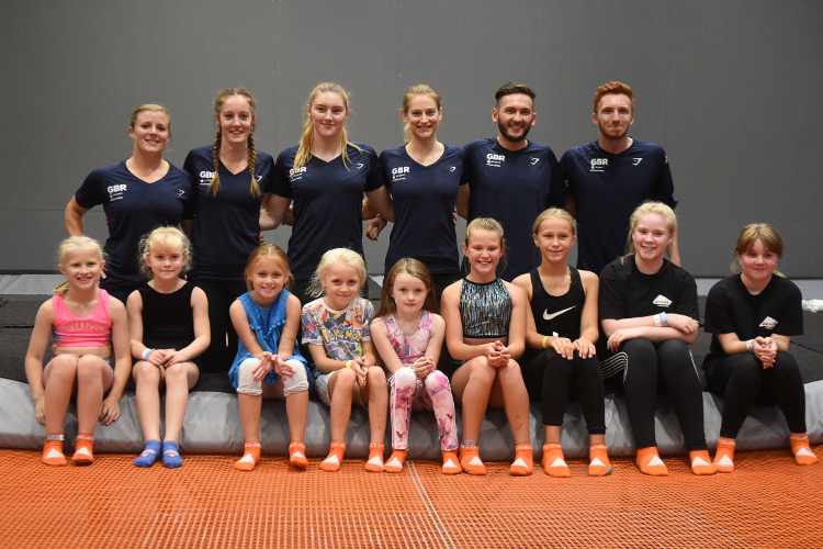 Trampoline team visit local children ahead of British Championships in Birmingham