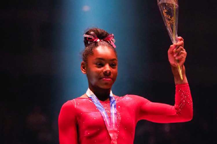 Taeja James dominates junior women's British apparatus finals