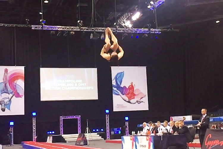 2016 tumbling and DMT senior titles decided in Liverpool