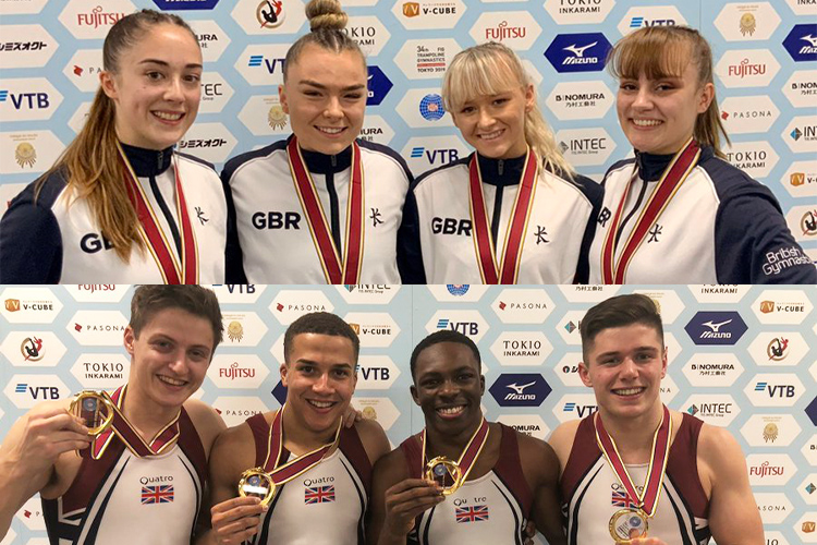 British tumbling teams win world gold; silver for DMT and trampoline gymnasts