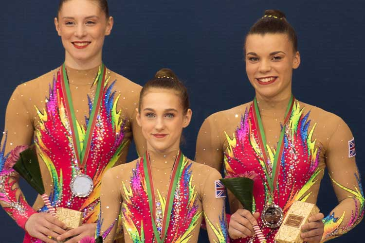 Two silvers and a bronze for GB acrobatic gymnasts in Portugal
