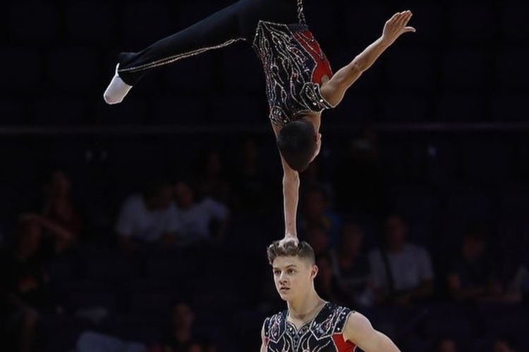 Gold for Britain's acrobatic men's pair at Portugal World Cup