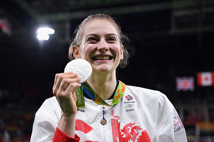 Sensational silver for Bryony Page as she makes trampoline history