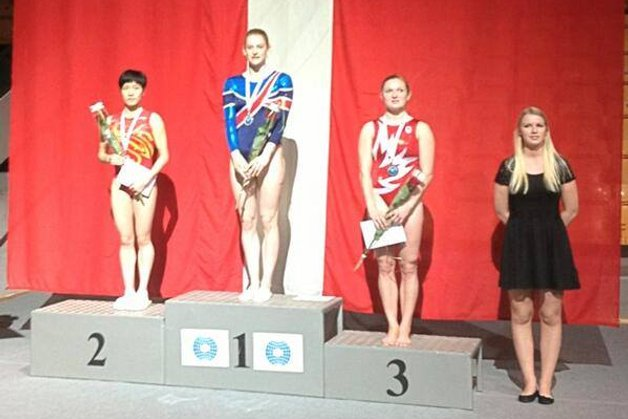 Bryony Page takes trampoline World Cup gold