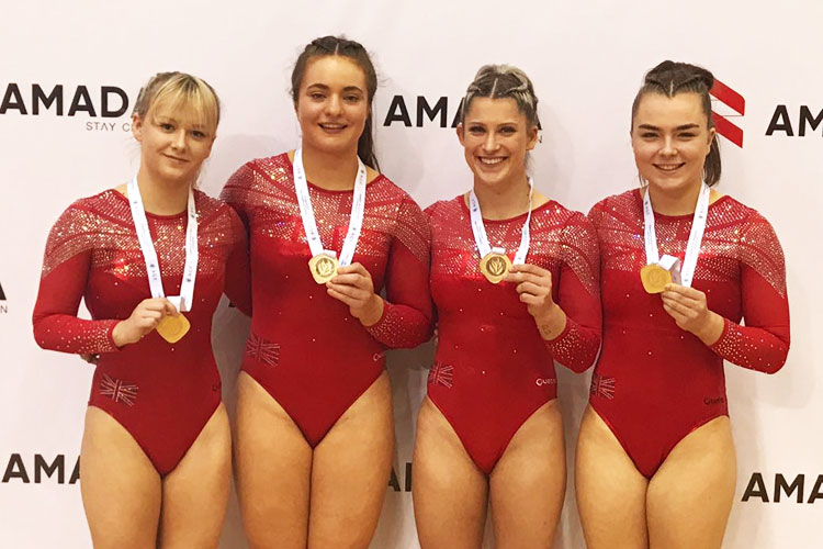 GB women take European tumbling team title in Baku