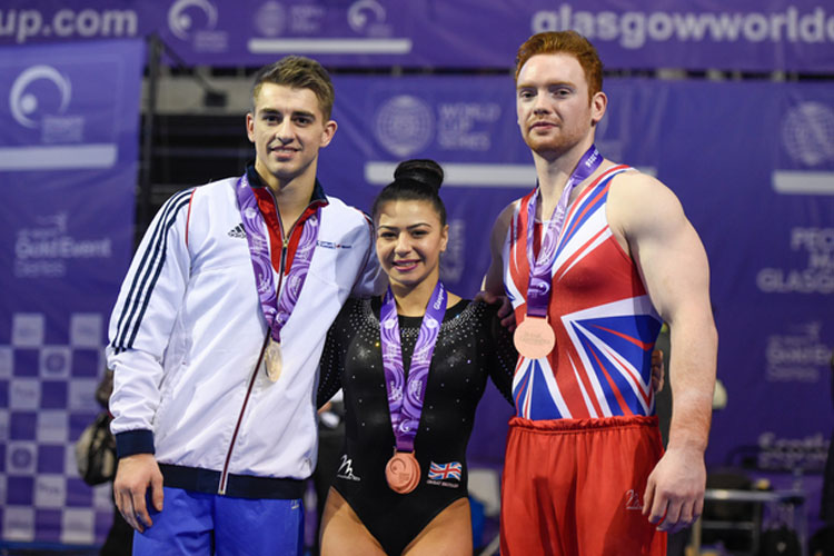 Three World Cup medals for British gymnasts in Glasgow