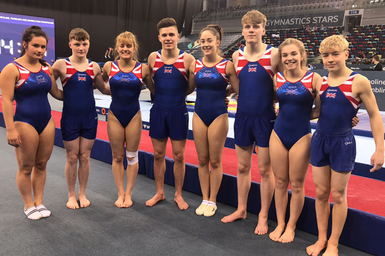 Two golds for GBR on day two of the 2018 Trampoline, Tumbling & DMT European Championships