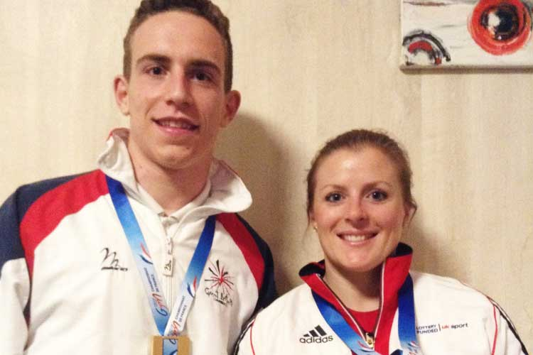 Trampoline gold for both Gallagher and Stamp in France