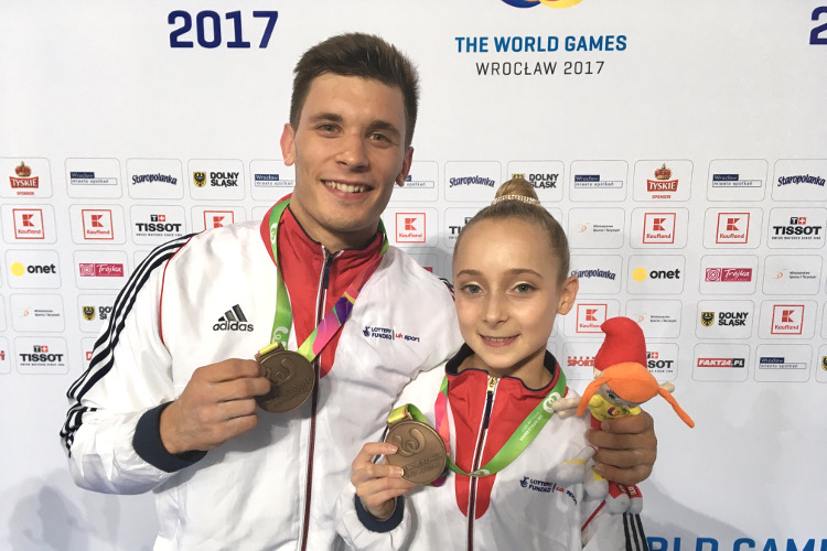 World Games bronze for acrobatic mixed pair