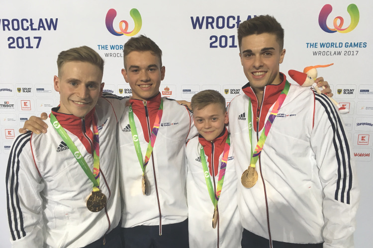 World Games gold for Britain's acrobatic men's group
