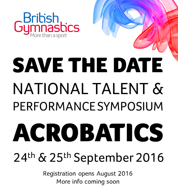 Save The Date Acro 24th & 25th Sept 2016