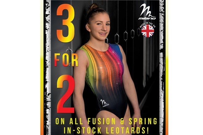 3 for 2 on All Fusion & Spring Stocked Leotards
