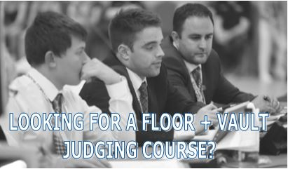 LEVEL 1 FLOOR & VAULT JUDGING COURSES