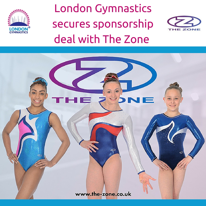 London Gymnastics secures sponsorship deal with The Zone
