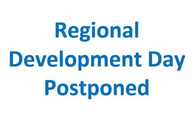 Regional Development Day Postponed