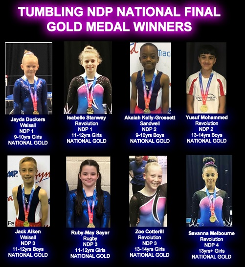 NDP Finals 2019 Gold Medals