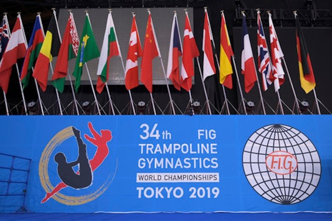 Success at trampoline, Tumbling and DMT World Championships