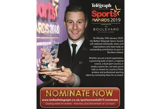 Belfast Telegraph Sports Awards 2019 Nominate Now