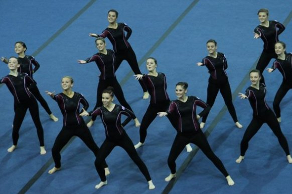 GBR in the finals at 2012 TeamGym European Championships