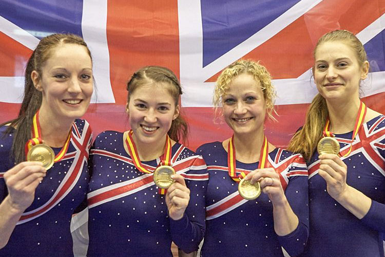 European gold for GB women's trampoline team